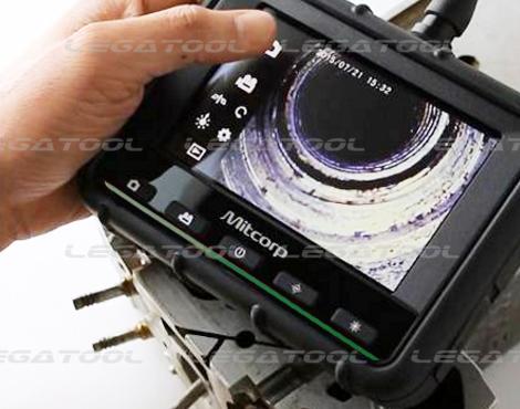 ภาพการใช้งานกล้องส่องท่อ รุ่น MX500 ภาพแสดงรูปในท่อ