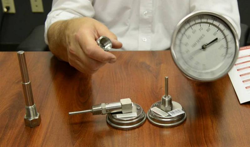 ที่วัดอุณหภูมิ Bimetal สำหรับติดตั้ง