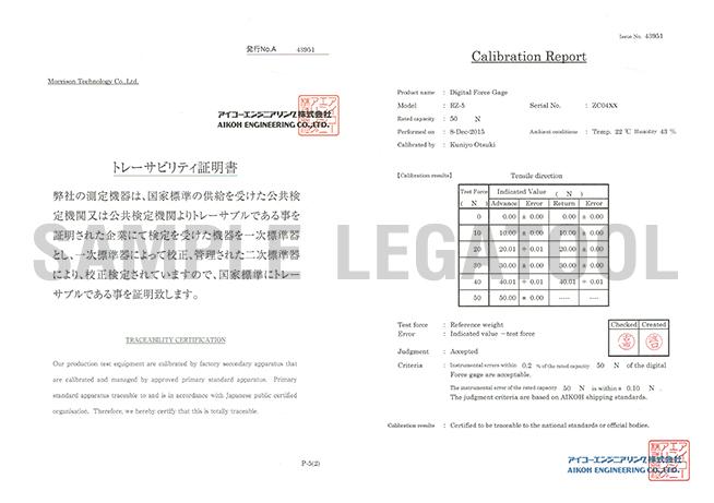 Certificate รุ่น RZ-5