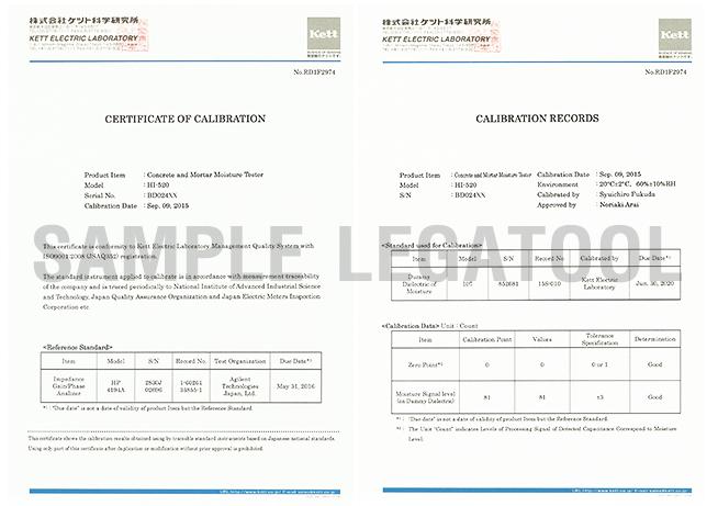 Certificate รุ่น HI-520