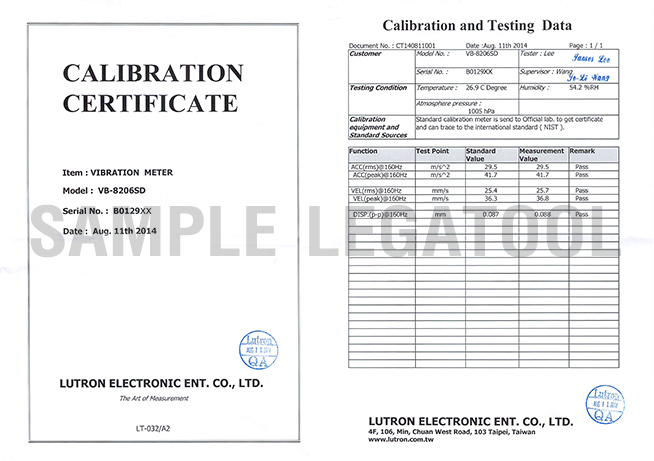 Certificate รุ่น VB-8206SD
