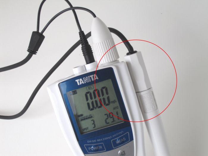 Chlorine meter, chlorine checker, sensor holder