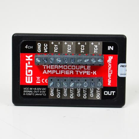 REVELTRONICS EGT-K 4-CH Thermocouple Amplifier 0-5V (Type-K)