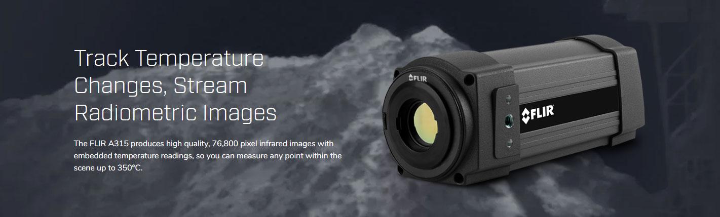 FLIR A315-25 กล้องถ่ายภาพความร้อนแบบติดตั้ง (320×240 pixel)