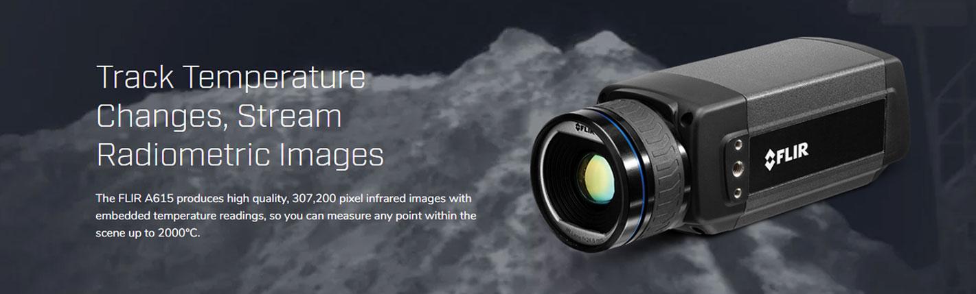 FLIR A615 กล้องถ่ายภาพความร้อนแบบติดตั้งสำหรับงานตรวจสอบ