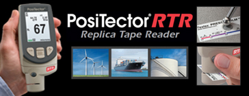 PosiTector RTR or PosiTector RTR 3D (replica tape reader)