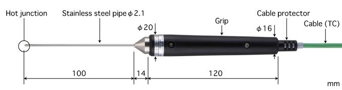 Anritsu BS-21K-010-TC1-ANP โพรบวัดอุณหภูมิ General Internal Probe | Max.500℃ (Type K)
