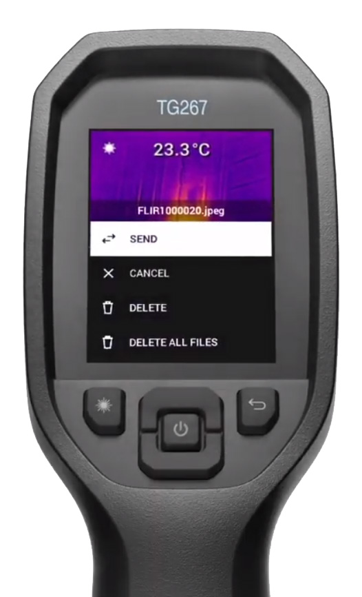 Wirelessly Transfer Images From FLIR TG267