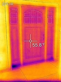 FLIRONE Energy Efficiency Thermal frontdoor