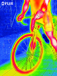 FLIRONE Thermal Imaging cyclist