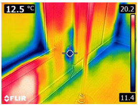 Air Leak Around Outlet - From FLIR C2
