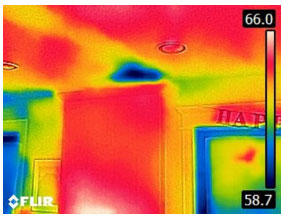 Cold Air Inside Enclosed Ceiling - From FLIR C2