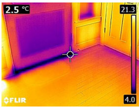 Cold Air Leak - From FLIR C2