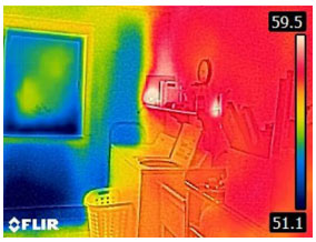 No Insulation in Outside Wall - From FLIR C2