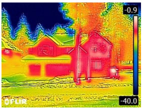 Warm House in Cold Weather - From FLIR C2