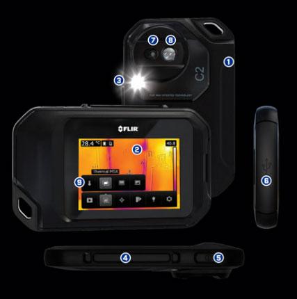 กล้องถ่ายภาพความร้อนแบบพกพา FLIR C2