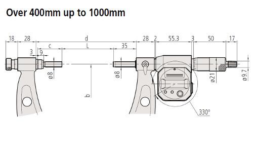 M-340 Dimension 400 - 1000