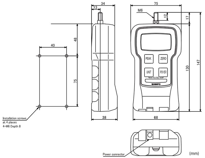 SHIMPO FGJN-5 เครื่องวัดแรงดึง/แรงผลักดิจิตอล 50.00N ...