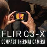 ใหม่ FLIR C3-X กล้องถ่ายภาพความร้อนแบบพกพา (128 x 96 pixels) | พร้อม Cloud & Wi-Fi