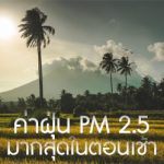 ค่าฝุ่น PM 2.5 มีปริมาณมากที่สุดในตอนเช้า