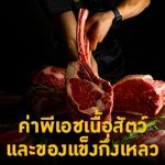 ค่าพีเอชเนื้อสัตว์ และของแข็งกึ่งเหลว เช่น ชีส, แยม, ครีม, ดิน